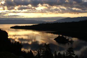 Morning over Lake Tahoe by MagicSean