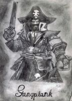 The Saltwater Scourge - Gangplank by Rubber-Band-Of-Doom