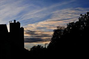 Clouds Behind Chimneys by LDFranklin