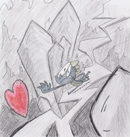 Spike Chasing the Crystal Heart by TheFlyingTacoz