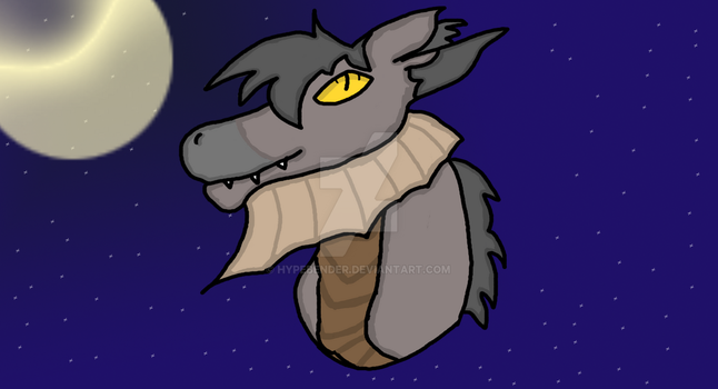 Xaivior Bust at night time by hypebender