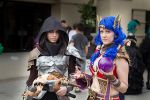 Demon Hunter and Sorcerer: Diablo 3 by Laurentea