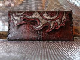 Red Tribal Tobacco pouch by morgenland