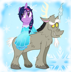 Frozen + MLP FIM + Discolight + Elsven by Cartuneslover16