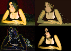 Four Moods of the Same Face by Sinnersandsaints08