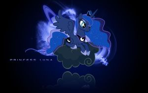 Princess Luna Wallpaper by Vexx3