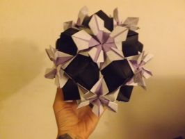 Black and Purple Cool Guy Kusudama by lovechairmanmeow