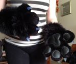Finished 4 finger tony paws by wolvescanlove
