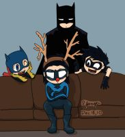 DCAU Batfamily Christmas by Yanguchitzure