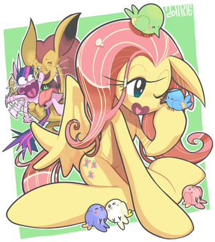 doodle:Fluttershy ..and More by Gashi-gashi
