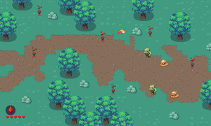 Ludum Dare: Forest Stage mockup by Pix3M
