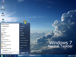 Windows 7 SP1 - Normal Taskbar by Vher528