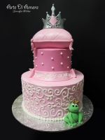Pink Princess Cake by ArteDiAmore
