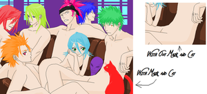 Bleach Group Base with Hair by Wolf-In-Human-Flesh