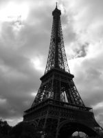 Eiffel Tower Black and White by HirOinEvOl