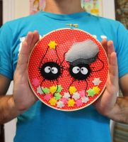 Soot Sprite Embroidery by loveandasandwich