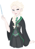 Disney in Hogwarts- Elsa Slytherin by Decapitated-Kittens