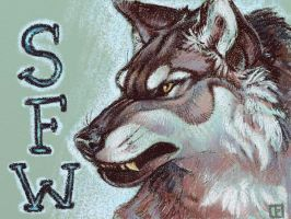 Silverfoxwolf Badge by thornwolf
