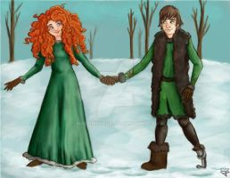 Merida And Hiccup by MadamePage