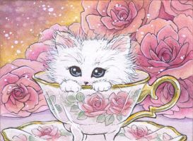 Kitten in a Teacup by aruarian-dancer
