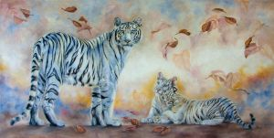 White tiger family by IrenaDem