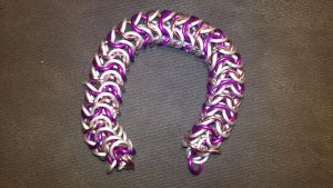 MLP Themed Sweetie Belle Chainmail Bracelet-2 by TheGiantsnoll
