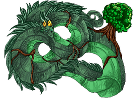 Dragon god 1:vines by Tacsayo