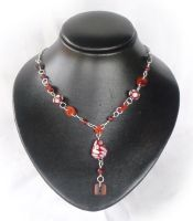 Red Harlequin Necklace by Athalour