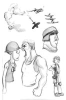 Military Sketches by madDolphin