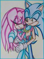 Sonic X Sky- Close (Coloured) by Sky-The-Echidna