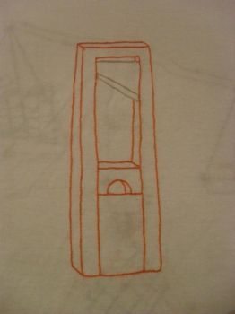 Hand Embroidered Guillotine by GuillotineChan