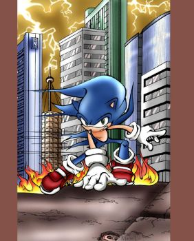 Ultimate Sonic 1 - cover by mree