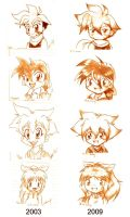 6 years beyblade chibis by I-Am-Bleu