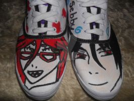 Sebastian and Grell shoes by spongebobdeathnote