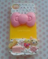 Iphone 4 deco den cover yellow, white + cute! by Luna-Goodies