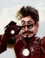 Robert Downey Jr as Iron Man by DevonneAmos