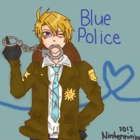 Blue police by NintenNinja