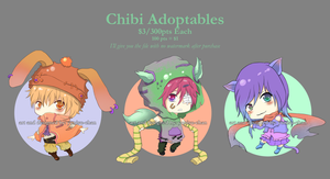 Chibi Adopts 1- $3/300pts each- -closed- by monochromatic-cafe