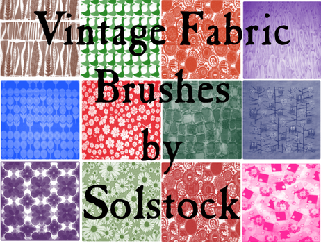 Vintage Fabric Brushes by SolStock