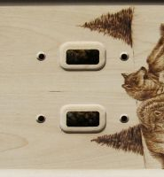 Wolf Double Switch Plate by SpikedPyro