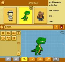 scribblenauts unlimited: trex player by Catty-Mintgum