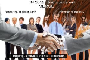 Merging worlds on a handshake by EBrummer