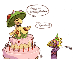 HAPPY BIRTHDAY PK! by cavemonster