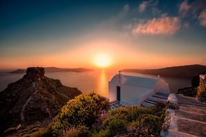 Sunset at Santorini (Thira), Greece by hessbeck-fotografix