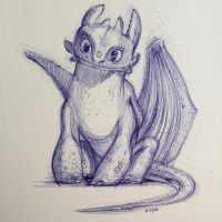 Toothless by AlexRuizArt