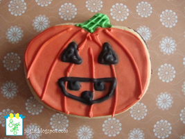Jack-o-lantern Cookie by SugiAi