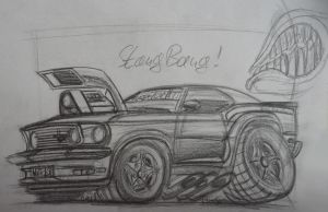 Boss Brainfuck Mustang Sketch by theTobs