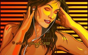 Listening to the Music by AristAF