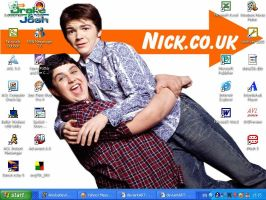 Drake and Josh Desktop by luvstruk