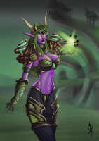 Ysera - World of Warcraft Fanart by t-corner